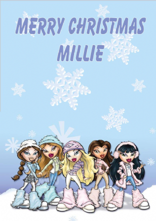 Personalised Bratz Christmas Card